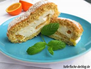 Orangen-Biskuitrolle