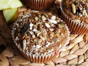 Einfache Vollwert Frühstücks-Muffins mit Beeren