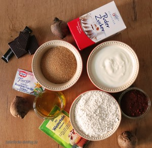 Zutaten Rote Bete Schoko Kuchen