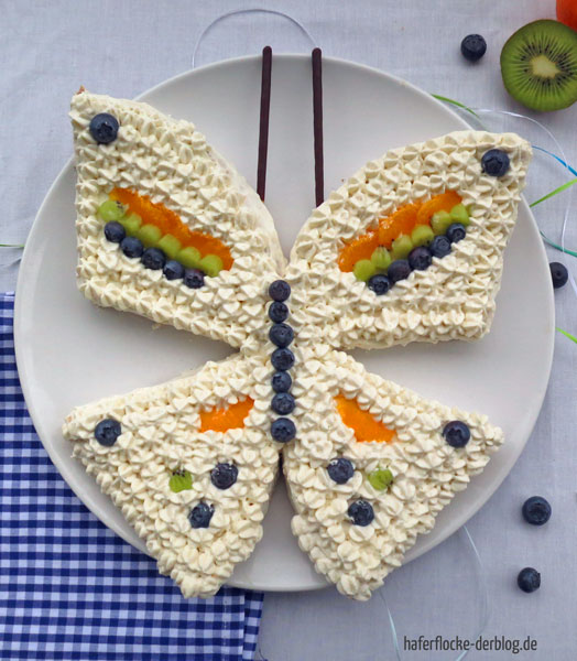 Fantakuchen in Schmetterlingsform