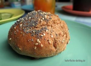 Quarkbrötchen mit Dinkelvollkorn- und Buchweizenmehl