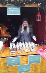 Knuspermüsli Stand Weihnachtsmarkt