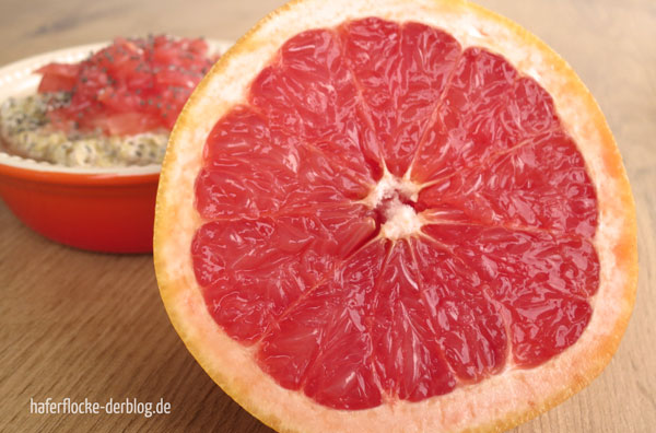 Quinoa Porridge mit Grapefruit