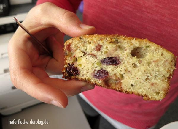Glutenfreier Kuchen mit Cranberries