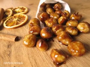 Gebrannte Ahorn-Macadamias