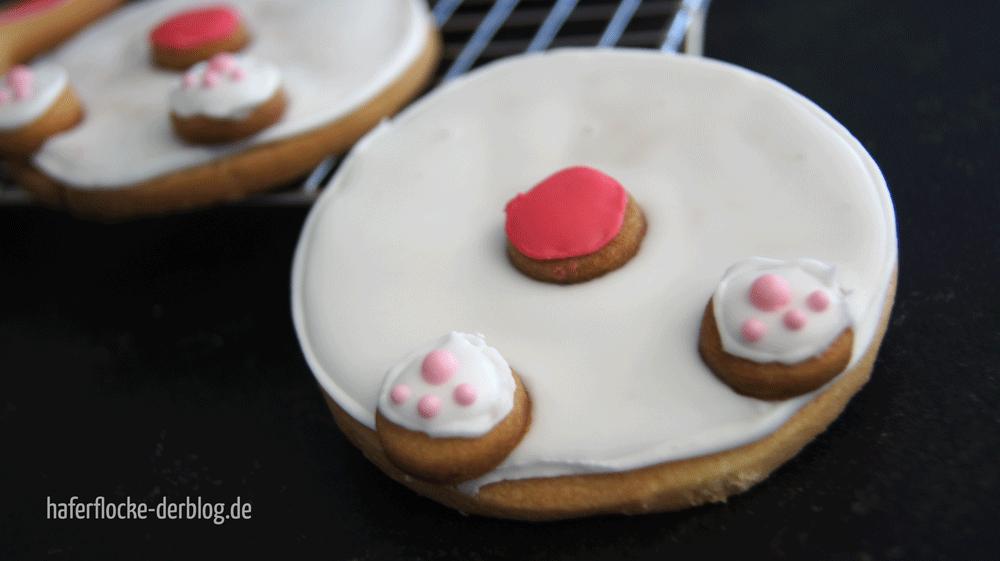 Süße Häschen-Popo Kekse