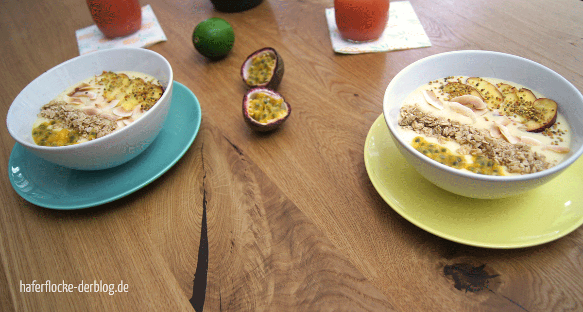 Mango-Banane-Maracuja Bowl