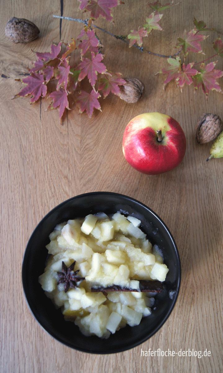 Kompott aus Äpfeln und Birnen