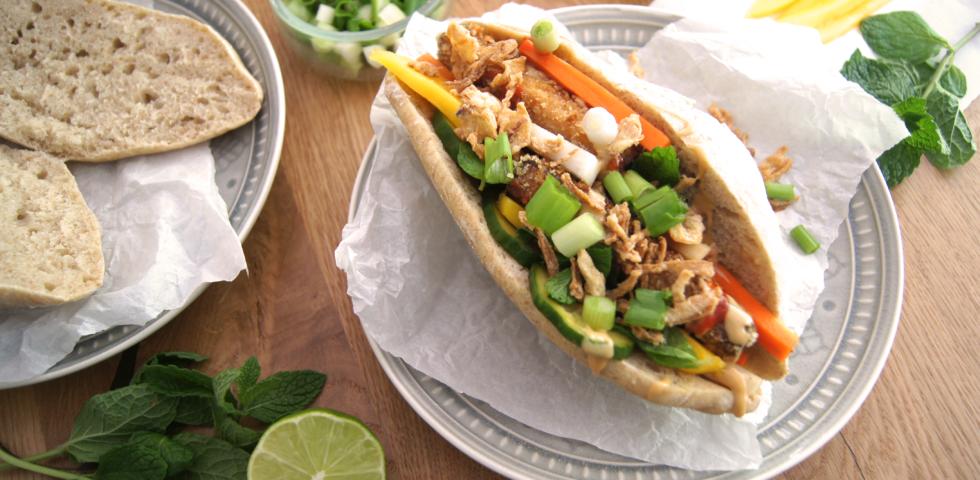 Banh Mi mit Pixed Pickels und Tofu