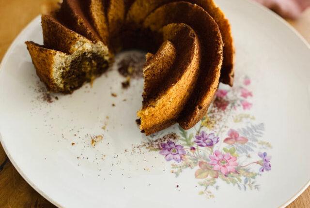 Marmorkuchen mit Rote Bete und Pastinake