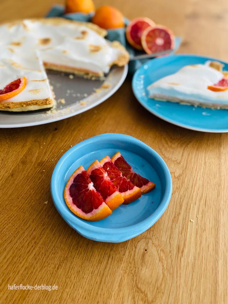 Blutorangen Curd Pie