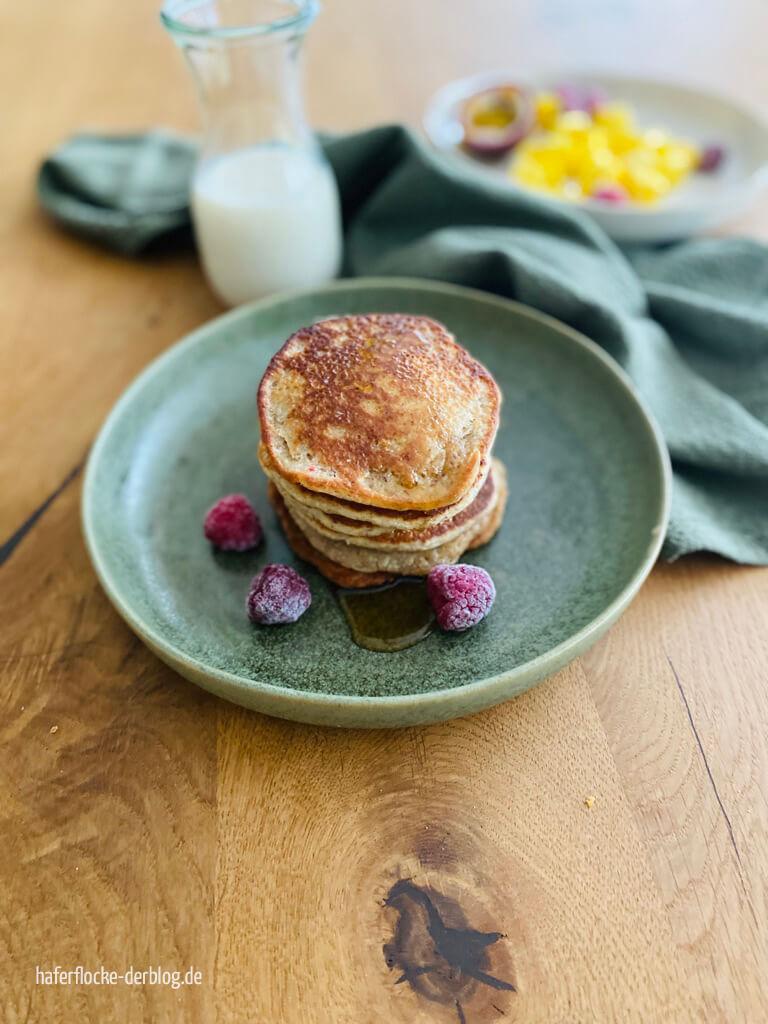 zuckerfreie vegane Pancakes